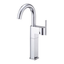 """Danze - Danze D201542 Chrome Vessel Filler Side Mount Handle - Danze D201542 Single Handle Vessel Filler is part of the Como collection.  D201542 Single hole mount with a 5 1/2"""" long and 13 1/2"""" high swivel spout.  Includes metal grid strainer drian with cover for vessels with or without overflow.  D201542 meets all requirements of ADA, California and Vermont compliant."""