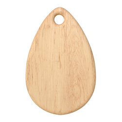 Teapdrop Cutting Board - Maple, Large - Timeless cutting and serving boards handcrafted from American Maple. With invisible joints, pebble-like smoothness and round, tapered edges, they are perfect for serving cheeses or using as a daily cutting board. The surface of each board is hand-sanded to a smooth finish and treated with a blend of beeswax and food-safe mineral oil. You will receive a small bottle of oil with your board, so you can continue caring for it when it feels dry.