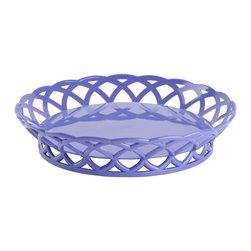 Get Melamine - 10.5 inch Round Basket 2.25 inch Deep Peacock Blue Polycarbonate/Case of 12 - Descriptions: 10.5 inch Round Basket 2.25 inch Deep