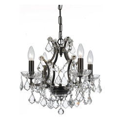 "Crystorama - Filmore Chandelier - Small - Clear Hand Cut Crystal Chandelier. Takes 4 - 60 w/c bulbs. Chain: 72"" Wire: 120"""