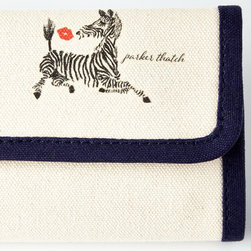 "iomoi - Zebra Kiss Personalized Jewelry Roll - iomoiZebra Kiss Personalized Jewelry RollDetailsJewelry roll made of cotton.Strap for earrings; two zip pockets.Personalization is one line (up to 26 characters/spaces) in typestyle and color shown.11""W x 4""T closed.Made in the USA of imported materials.You will be able to specify personalization details after adding item(s) to your shopping cart. Please order carefully. Orders for personalized items cannot be canceled and personalized items cannot be returned."