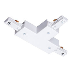 "Juno Lighting - Juno R25 Trac-Lites T-Connector, R25wh - ""T"" Connector. Joins three trac sections."