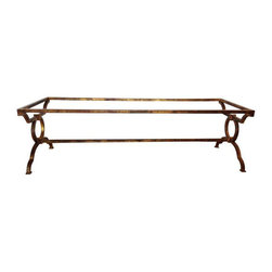 Gilded Iron Cocktail Table Base - $550 Est. Retail - $250 on Chairish.com -