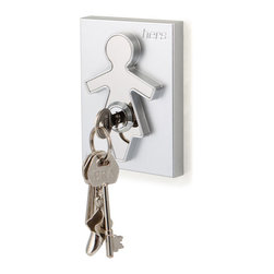 j-me design - His and Her Key Holders, Her Keyholder - The contemporary design of the His and Her Key Holders incorporates a male and a female form, which is raised up against its background forming an interesting design aspect and clearly identifying who's keys are whose!