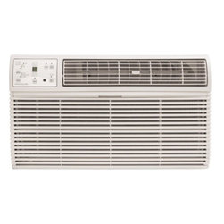 Frigidaire A/C - 14000 BTU w/ Electronic Control and Remote, Through the Wall (230V) - Frigidaire's FRA144HT2 14,000 BTU 230V Through-the-Wall Air Conditioner is perfect for rooms up to 640 square feet. This unit is designed for through-the-wall installation and is not designed for standard window installation. It will fit most existing wall sleeves and includes a standard universal interior trim kit. New wall sleeves are sold separately. This unit also requires a special 230V electrical outlet and will not operate with a standard 115V household electrical outlet. The ready-select electronic controls allow you to easily select options with the touch of a button. The effortless temperature-sensing remote control allows you to see, set and maintain room temperature from across the room. The multi-speed fan features three different fan speeds for more cooling flexibility and 4-way air direction control allows you to direct the air where you want it. Plus, quiet operation keeps you cool without keeping you awake.14,000 BTU air conditioner for through-the-wall installation (Not suitable for window installation)|Special 230V electrical outlet required (Unit will not work with a standard 115V outlet)|Quickly cools a room up to 640 sq. ft.|Dehumidification up to 4.3 pints per hour|Ready-select electronic controls allow you to easily select options with the touch of a button|Effortless temperature sensing remote control allows you to see, set and maintain room temperature from across the room|Low power start-up and operation conserves energy and saves you money|Quiet operation keeps you cool without keeping you awake|Effortless temperature control maintains preset room temperature so you will remain at your comfort level|Effortless restart automatically resumes operating at its previous settings when power is restored|  frigidaire| fra144ht2| fra144| 14000| 14|000| btu| through-the-wall| thru-the-wall| through| thru| the| wall| ttw| air| conditioner| a/c| ac| 230| v|  Package Contents: through the wall air conditioner|standard universal interior trim kit|remote control|2 AAA batteries|manual|warranty  This item cannot be shipped to APO/FPO addresses