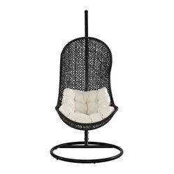 The Parlay Rattan Outdoor Wicker Patio Swing Chair Set