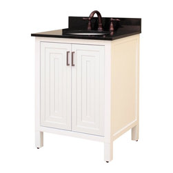 Sagehill Designs - Sagehill Designs AD2421 Audra 24 in. Single Bathroom Vanity Multicolor - AD2421 - Shop for Bathroom from Hayneedle.com! Formal yet informal modern yet traditional the Sagehill Designs AD2421 Audra 24 in. Single Bathroom Vanity adapts to any decor and makes for an inviting atmosphere that's sure to garner complements. Crafted from select hardwoods and finished in white this vanity cabinet flaunts exciting features like receding stepped door panels with matching metal handles and legs that adjust to ensure the free standing design is always stable. The vanity's double doors open to a single shelf that adjusts at to meet the needs of your household so all the bathroom essentials are easily organized.About Sagehill DesignsWith Sagehill Designs it's all in the details. Since 1986 Sagehill Designs has been crafting superior quality kitchen and bath furnishings. Rich in detail that matter you'll find heirloom-quality finishes impeccable craftsmanship and generous storage wrapped in a smart design. You get it all with a Sagehill Design original. Sagehill Design's specialists in helping you create the perfect kitchen or bath environment.