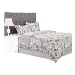 "300 Thread Count Cotton Blossom Duvet Cover Set - King/California King - The Blossom Duvet features an extremely detailed floral pattern that has the appearance of being hand drawn. This duvet cover set is sure to please and add style and color to your bedroom. Set includes: (1) Duvet Cover 106x92"" and (2) Pillow Shams 20x36""."