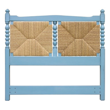 EuroLux Home - New Queen Bed Blue Painted Hardwood Newport - Product Details