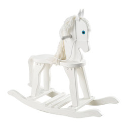 "KidKraft - Kidkraft Kids Fun Play Activity Derby Wooden Craft Rocking Toy Horse White - Our Derby Rocking Horse would make a great gift for the young cowboys and cowgirls in your life. Sorry, ten-gallon hats and lassos not included. Dimension: 35""Lx 11""Wx 27.75""H, Seat: 16""H"