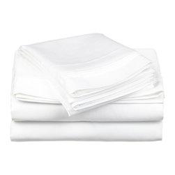 600 Thread Count Cotton Rich Full White Sheet Set - Cotton Rich 600 Thread Count Full White Sheet Set
