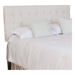 Great Deal Furniture - Lansing Queen/Full Headboard, Beige - The Lansing headboard is a great piece to add elegance to your bedroom. You can spruce up the look of any queen or full metal frame bed with this headboard.
