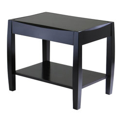 Winsome - Winsome Cleo End Table in dark Espresso Finish - Winsome - End Tables - 92024 - Unique design and profile to the table top and legs is what make Cleo Collection so special. Perfect for any style decor.