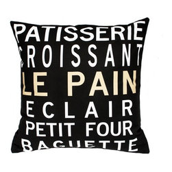 "Uptown Artworks - Patisserie Pillow - Features: -Material: Natural cotton / linen. -We recommend spot-cleaning or wash in cool water with phosphate-free detergent. -Zipper closure, plush feather and down insert. -Made in the United States. -Eco-friendly. -Overall dimensions: 20"" H x 20"" W, 2 lbs."