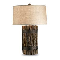 Currey & Co - Currey & Co 6521 Wharf Natural Wood Table Lamp - 1 Bulb, Bulb Type: 150 Watt Edison; Weight: 31lbs