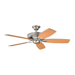 "Kichler - 52"" Monarch II 52"" Ceiling Fan Antique Pewter - Kichler 52"" Monarch II Model KL-339013AP in Antique Pewter with Cherry finished blades."