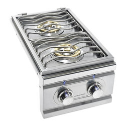 Summerset Grills - TRL Double Stainless Steel Natural Side Burner - #304 Stainless Steel Construction