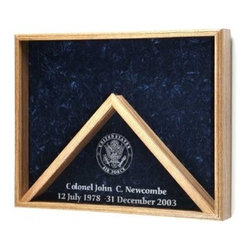 Deluxe Combo Awards Flag Display Case - US Air Force, US Army, US Coast Guard, US marine Corps, US Navy