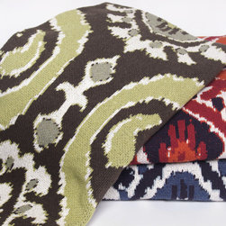 """In2green Ikat  Eco Knit Throw - This Modern Ikat throw is knit with a blend of recycled cotton yarn and manufactured in the USA. The size is 50""""x 60"""" and the best part is that its machine wash & dry."""