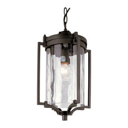 Trans Globe Lighting - Black Coastal Sea 16-Inch Hanging Lantern with Clear Water Glass - - Enjoy outdoor breezes and coastal elements with water glass lanterns that add warm reflections across landscape and garden entry areas. Glass is open at bottom.  - 1 Light Hanging Lantern  - Weather resistant cast aluminum  - Includes 3' chain for hanging adjustments  - Clear water glass adds accent shadows to landscape and gardens  - Down direction bulb adds brighter light at entry area and porch  - Coastal inspired complete outdoor lighting collection  - Material; Cast Aluminum, Glass  - Bulbs not included Trans Globe Lighting - 40134 BK