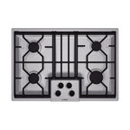 "Bosch 300 Series 30"" Gas Cooktop, Stainless Steel 