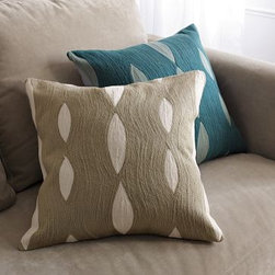 "Allegra Hicks Wave Pillow Cover - I'm so happy that the fabulous Allegra Hicks is bringing her designs to the masses. This hand-creweled pillow will add texture and a contemporary pattern to any room in your home. Dimensions: 18""sq. 100% cotton ground/100% acrylic embroidery. Hand-guided crewel embroidered pattern. Zipper closure. 18""sq. Accommodates an 18""sq. Pillow Insert (sold separately)."