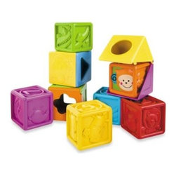 B Kids - B Kids Bebee & Friends Soft Peek-A-Boo Block - Your baby will enter a world of discovery with these nine soft blocks that rotate, open, and stack and feature colorful animal faces.