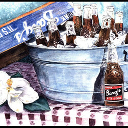 Caroline's Treasures - Barq's And Old Washtub Indoor Or Outdoor Mat 24X36 Doormat - Indoor / Outdoor Mat 24x36 - 24 inches by 36 inches. Permanently dyed and fade resistant. Great for the front door or the back door.  Use this mat inside or outside.    Use a garden hose or power washer to chase the dirt off of the mat.  Do not scrub with a brush.  Use the Vacuum on floor setting.  Made in the USA.  Clean stain with a cleaner that does not produce suds.