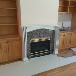 Interior painting, Baymeadows area, 2013. - Converted mantle and legs from stained to a painted surface. Materials are from Sherwin Williams.