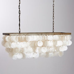 Capiz Rectangular Chandelier - I still love a good capiz shell chandelier. Plus, the capiz shell is the perfect circle formed by nature.