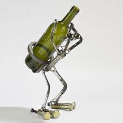 Wine Bot Statue - This versatile creation can caddy wine, spirits, or really any drink you'd like to place on its sturdy back.