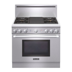 "Thermador 36"" Pro Harmony Dual Fuel Range, Stainless Steel 