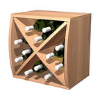 Wine Cellar Innovations - Curvy Wine Cube W/ Diamond Insert Convex;Premium Redwood Unstained - This convex Curvy Wine Storage Cube is best matched up with its concave partner to make them curve. Our diamond insert will let this wine cube hold 12 bottles and makes having a wine collection fun and affordable. Each of these wine storage cubes is available to stack or be wall mounted and rack virtually anywhere due to their unique size and ergonomic assembly.  These unique wine racks are available in rustic pine and premium redwood with a large selection of stain options to match virtually any existing decor.