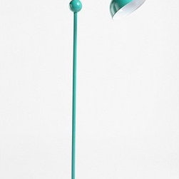 Vintage Floor Lamp, Turquoise - I've seen this lamp before, but never in this fabulous turquoise shade. The color gives it an electric jolt of funky vintage style.