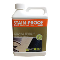 Drytreat - Drytreat Stain Proof™  (1 Quart) - Stain-Proof™ Original is an impregnating, invisible and breathable sealer that protects exposed natural stone, tiles, pavers, concrete and grout from damage caused by water, salts and oil-based stains. Treated indoor and outdoor surfaces become easier to clean, maintain, and keep looking good for longer. Stain-Proof™ Original provides lasting protection for natural stone, concrete, terracotta tile, cast stone, paving, sandstone, limestone, brick and grout.