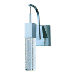 ET2 - One Light LED Wall Sconce - SKU: E22760-89PC - One Light LED Wall Sconce This ever popular collection is now better than ever. High output LEDs now illuminate the bubble glass pendants. These LED modules produce 20% more light, 90% less heat, 25 time longer life, and 75% less energy than the previous halogen lamp. You also still have dimming capability.