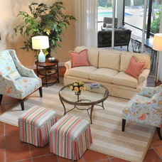 Traditional Family Room by Lorrie Browne Interiors