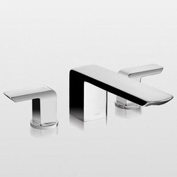 TOTO - TOTO TB960DD#PN Soiree Deck-Mount Bath Faucet, Polished Nickel - TOTO TB960DD#PN Soiree Deck-Mount Bath Faucet, Polished Nickel When it comes to Toto, being just the newest and most advanced product has never been nor needed to be the primary focus. Toto's ideas start with the people, and discovering what they need and want to help them in their daily lives. The days of things being pretty just for pretty's sake are over. When it comes to Toto you will get it all. A beautiful design, with high quality parts, inside and out, that will last longer than you ever expected. Toto is the worldwide leader in plumbing, and although they are known for their Toilets and unique washlets, Toto carries everything from sinks and faucets, to bathroom accessories and urinals with flushometers. So whether it be a replacement toilet seat, a new bath tub or a whole new, higher efficiency money saving toilet, Toto has what you need, at a reasonable price. TOTO TB960DD#PN