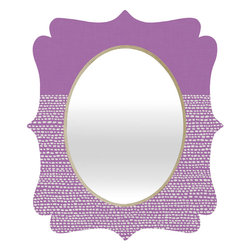 DENY Designs - Jacqueline Maldonado Riverside Radiant Orchid Quatrefoil Mirror - Mirror, mirror on the wall. Who's the fairest one of all? We'll that's easy, the quatrefoil mirror collection, of course! With a sleek mix of baltic birch ply trim that's unique to each piece and a glossy aluminum frame, the rectangular mirror makes you feel oh so pretty every time you catch a glimpse. Custom made in the USA for every order.