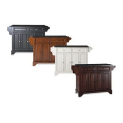 Crosley - Crosley LaFayette Black Granite Top Kitchen Island - Raised panel doors and other traditional styling details make this kitchen island a great addition to any kitchen. The black granite countertop is a great work space no matter what your task.