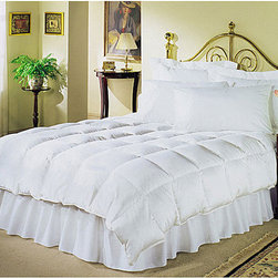 None - Elegance 720 Thread Count White Down Comforter - Sleep in cozy comfort with this Elegance white down comforter. This luxurious white down comforter features extra warmth and softness with a 720 thread count cover.