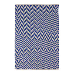 Fab Habitat - Fab Habitat - Indoor Cotton Rug - Mudra - Indigo & Natural, 2' X 3' - Fab Habitat brings you a stylish collection of rugs made from recycled cotton. These handcrafted flat weave cotton rugs have subtle elegance with simple and classic designs. They are perfectly suited to bring comfort to a modern space. The rugs are made to withstand everyday use and are extremely easy to take care of. These rugs are made using sustainable practices and dyes, which are safe for the environment.
