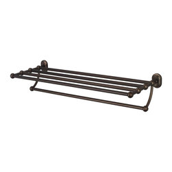 Water Creation - Multi-Purpose Bath Train Rack For Classic Bathroom, Oil Rubbed Bronze Finish wit - Transform your bathroom's decor to the elegance of yesteryear with Water Creation's line of coordinating vintage bathroom accessories.  Constructed of solid brass, Water Creation's towel racks, towel bars, towel rings, toilet paper holders, robe hooks, and shower caddies were all designed with durability in mind.  All accessories are offered in triple plated chrome, brushed nickel, polished nickel, and oil rubbed bronze finishes to accommodate your particular motif.