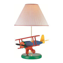 Lite Source - Children Kids Airplane Bi Plane Table LampLite Source Kids Collection - To put it plainly and simply, Lite Source is a quality manufacturer of a vast selection of both beautiful and affordable interior lamps, not to mention a small number of other household items.