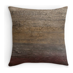 """Breaking Through throw pillow by Ruby Rose Studio - Throw pillow features the original artwork of Ruby Rose Studio.  Original textured painting titled, """"Breaking Through."""" Available in various sizes, with or without the insert."""