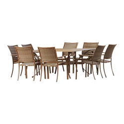 Panama Jack Island Cove 9 Piece Dining Set