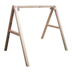Fifthroom - Red Cedar Swing Stand for 6' Swing - To make sure that everybody gets into the swing, we offer this wonderful 4x4 Red Cedar Swing Stand, perfect for those who don't have porches.  Just hang one of our hand-made swings, or an old favorite of your own, on this great-looking Swing Stand, and let it fly.