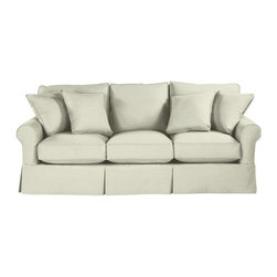 Ballard Designs - Suzanne Kasler Signature 13oz Linen Baldwin Sofa Slipcover - Coordinates with Suzanne's linen panels, tablecloths & pillows. Removes easily for cleaning or a fresh change of seasonal color. Dry clean. Imported. Suzanne's best-selling line of luxurious linens now include slipcovers designed exclusively to fit our ultra-comfy Baldwin Sofa. Hand finished with strong, over-locking seams and custom fitted to prevent shifting and bunching. A Baldwin Slipcover is necessary when ordering any Baldwin frame.Suzanne Kasler Baldwin Sofa Slipcover features: . . . .