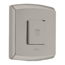 Toto - Toto TS960C3 Brushed Nickel Soiree Push-Button Valve Trim - This Toto TS960C3#BN soiree volume control trim without diverter features a beautifully contemporary style, and comes in a brushed nickel finish.