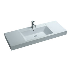 ADM - ADM White Solid Surface Stone Resin Wall Hung Sink, Matte - DW-140